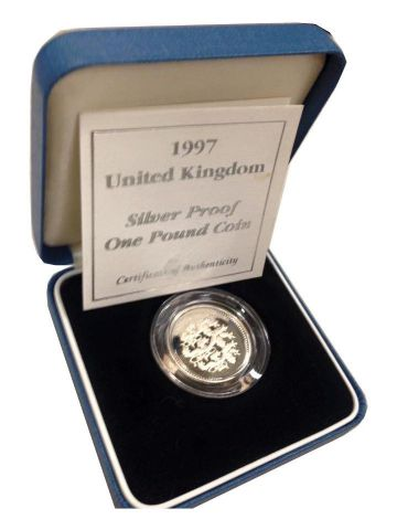 1997 Silver Proof One Pound Coin